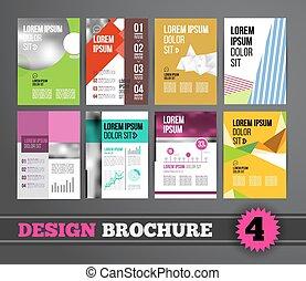 パンフレット, デザインを設定しなさい, mega