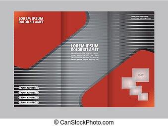 パンフレット, デザイン, テンプレート