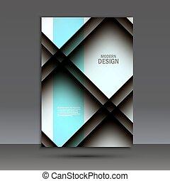 パンフレット, デザイン, ベクトル, レイアウト, テンプレート