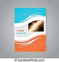 パンフレット, ベクトル, デザイン, 単純である, フライヤ, 抽象的, 現代