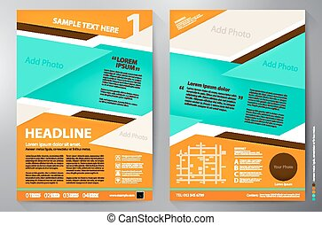 パンフレット, ベクトル, デザイン, a4, template.