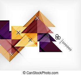 パンフレット, 小冊子, 幾何学的, |, テンプレート