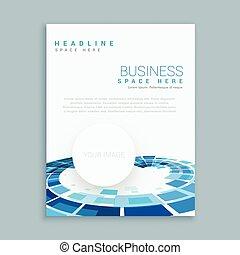 パンフレット, 抽象的, ビジネス, テンプレート
