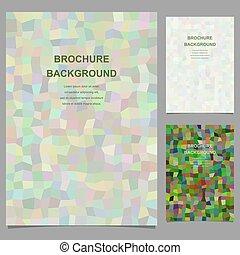 パンフレット, 抽象的, ベクトル, デザイン, テンプレート