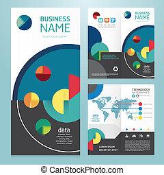 パンフレット, 現代, デザイン, ビジネス, template.vector