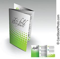 パンフレット, tri-fold, デザイン