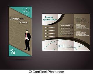 パンフレット, tri-fold, ビジネス