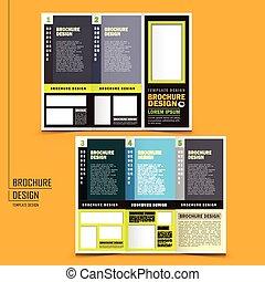 パンフレット, tri-fold, ベクトル, デザイン, ビジネス