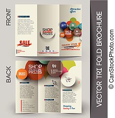 パンフレット, tri-fold, 企業のビジネス