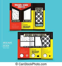 パンフレット, tri-fold, 広告, ビジネス, テンプレート