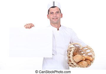 パン屋, poster., 白, 保有物
