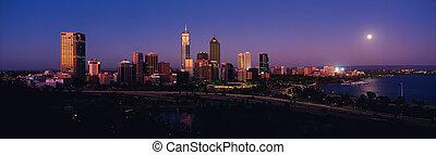 パース, オーストラリア, 夜