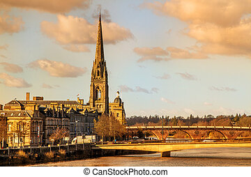 パース, 高い, steeple, スコットランド, 教会