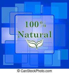 パーセント, 100, 自然, アイコン