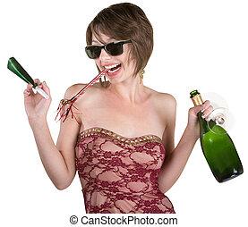 パーティー少女, ∥で∥, ワイン, そして, カズー