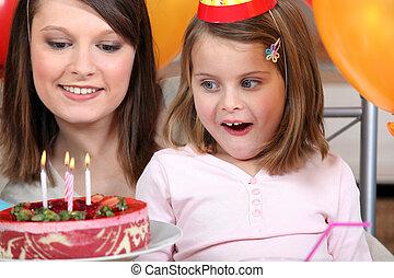 パーティー, わずかしか, 誕生日の 女の子, 持つこと