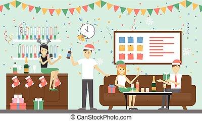 パーティー。, クリスマス, オフィス