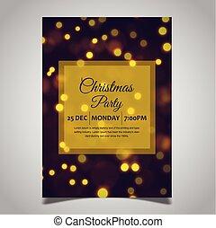 パーティー, クリスマス, テンプレート, ポスター
