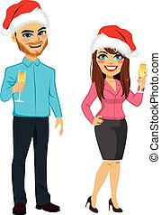 パーティー, クリスマス, ビジネス