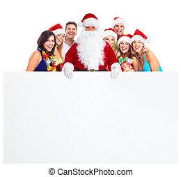 パーティー。, クリスマス, 幸せ, 人々。