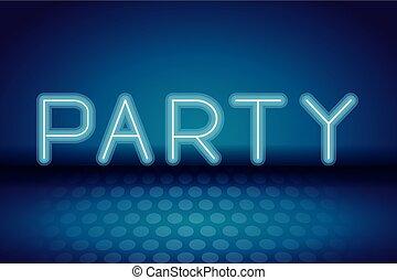 パーティー, ネオン, 広告