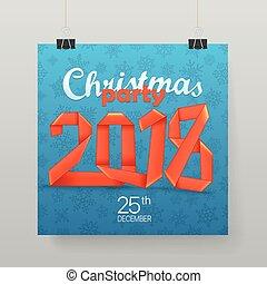 パーティー, ベクトル, クリスマス, ポスター