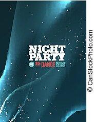 パーティー, ベクトル, 夜