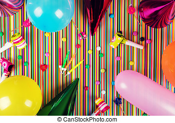パーティー, 上, birthday, バックグラウンド。, 光景