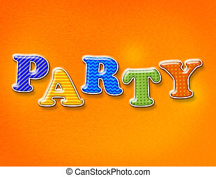 パーティー, 主題, 手紙, カラフルである
