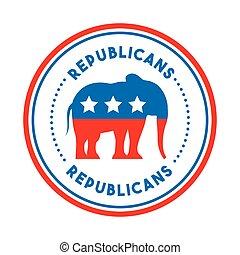 パーティー, 共和党員, 政治的である, 動物