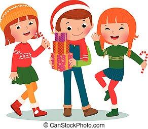パーティー, 子供, クリスマス