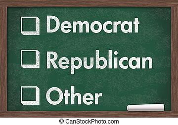 パーティー, 政治的である, あなたの, 選択