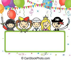 パーティー, 衣装, カード