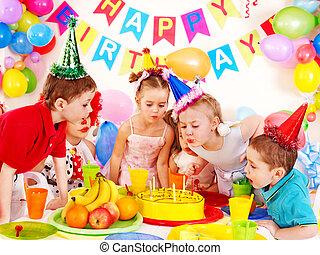 パーティー, birthday, 子供