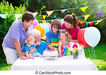 パーティー, birthday, 家族, 幸せ