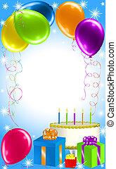 パーティー, birthday, 背景