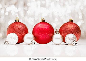 パーティー, bokeh, llights, 安っぽい飾り, クリスマス