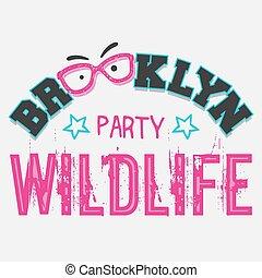 パーティー, brooklyn, 野生生物