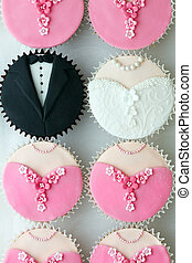 パーティー, cupcakes, 結婚式