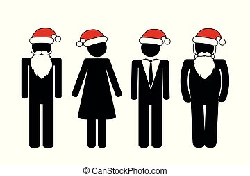 パーティー, pictogram, クリスマス, 人々