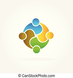 パートナー, チームワーク, ビジネス, ロゴ
