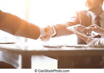 パートナー, 女性ビジネス, タブレット, デジタル, ミーティング