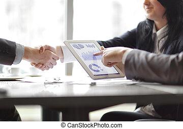 パートナー, 握手, 財政, ビジネス, スケジュール, 背景, ビジネスマン