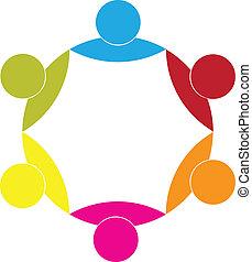 パートナー, 概念, ビジネス, 組合, ロゴ, アイコン