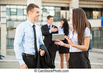 パートナー, 若い, ビジネス
