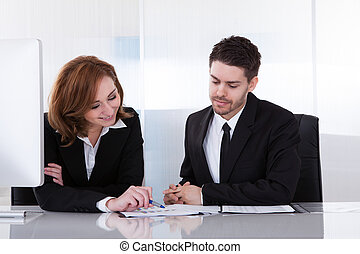 パートナー, 論じる, ビジネス