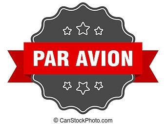パー, seal., 印, avion, 隔離された, label., sticker.