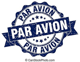 パー, stamp., avion, 印。, シール