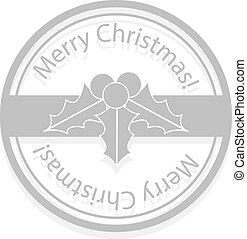 ヒイラギの果実, クリスマス, 切手