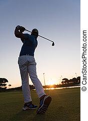 ヒッティング, ゴルファー, 打撃, 長い間